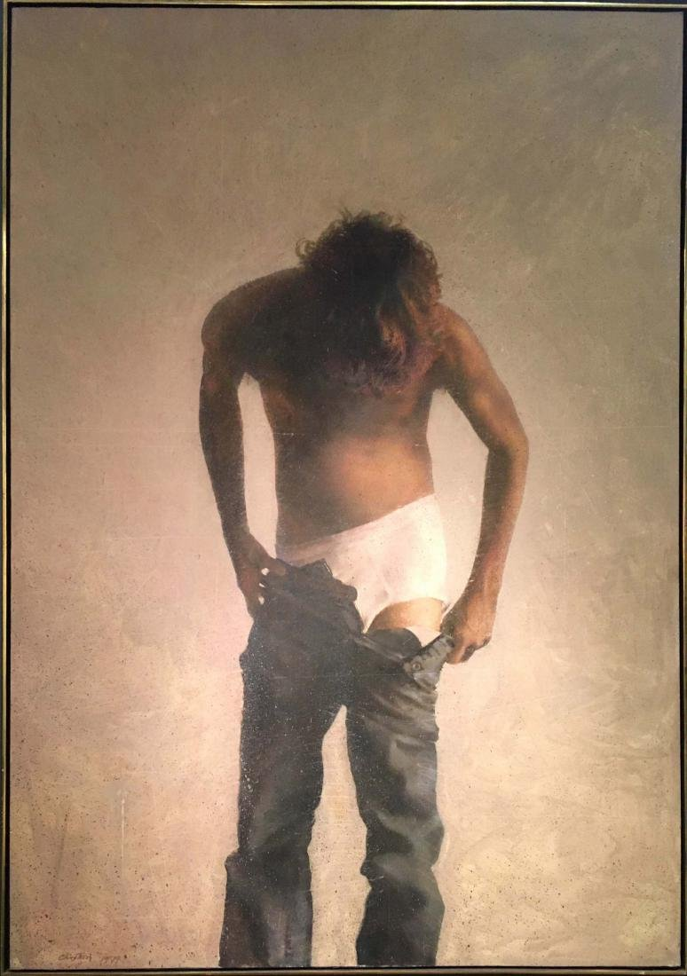 Barry Clinton American Realist Male Nude LARGE