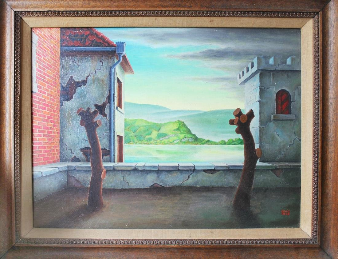 George W. Staempfli Surrealist painting modern