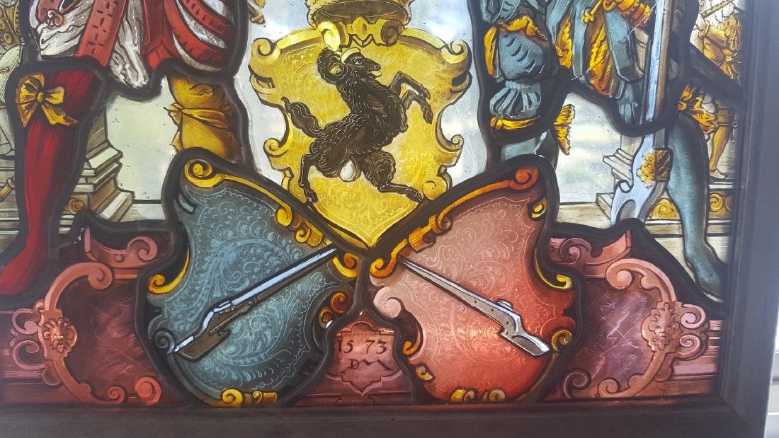 Renaissance Era Stained Glass  Arms & Armor - 4