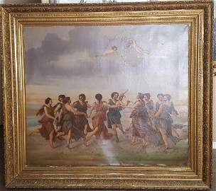 European 19th century MONUMENTAL mythological painting