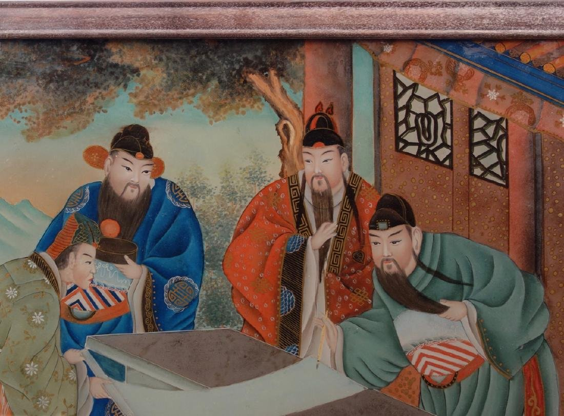Chinese reverse painting on glass - 3