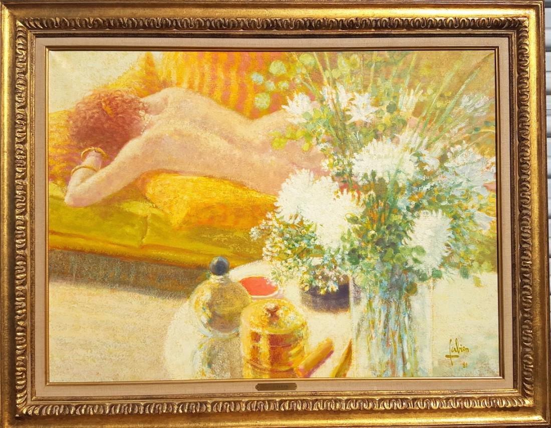 Louis P. Fabien French Belgian Impressionist Nude