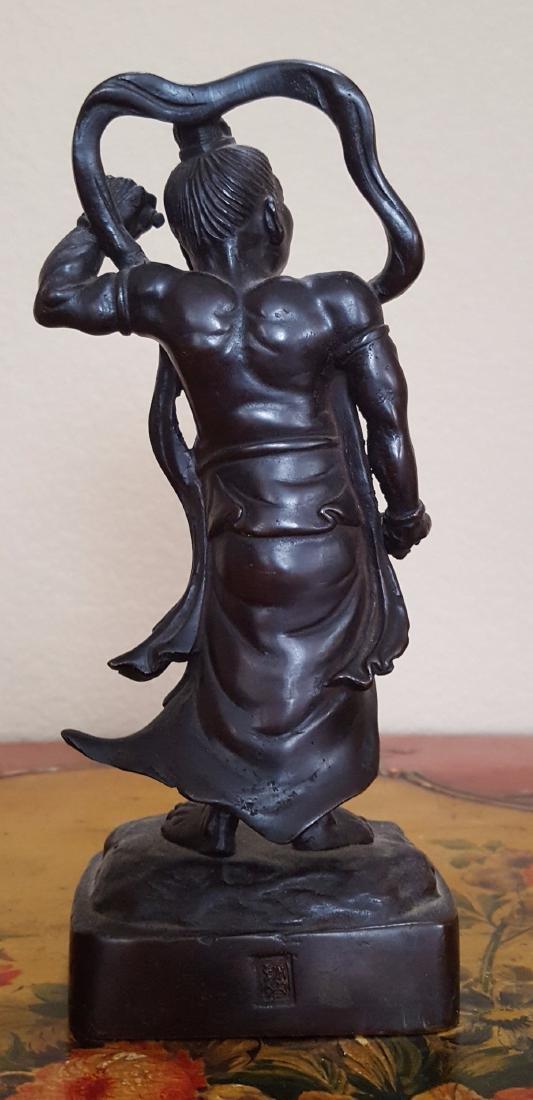 Japanese Antique Meiji Bronze Warrior - 3
