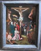 Flemish renaissance old master painting oil on copper