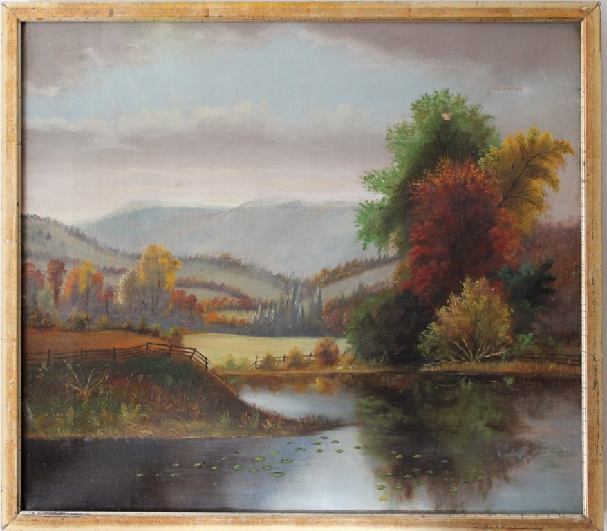 4: Hudson River School oil on canvas