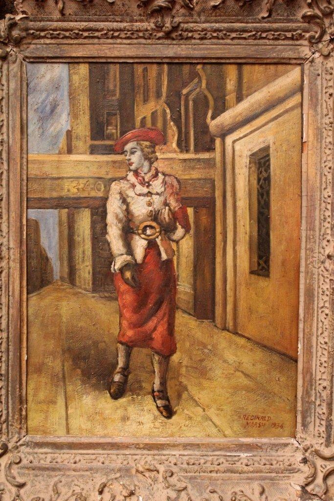 5: Oil Painting signed Reginald Marsh