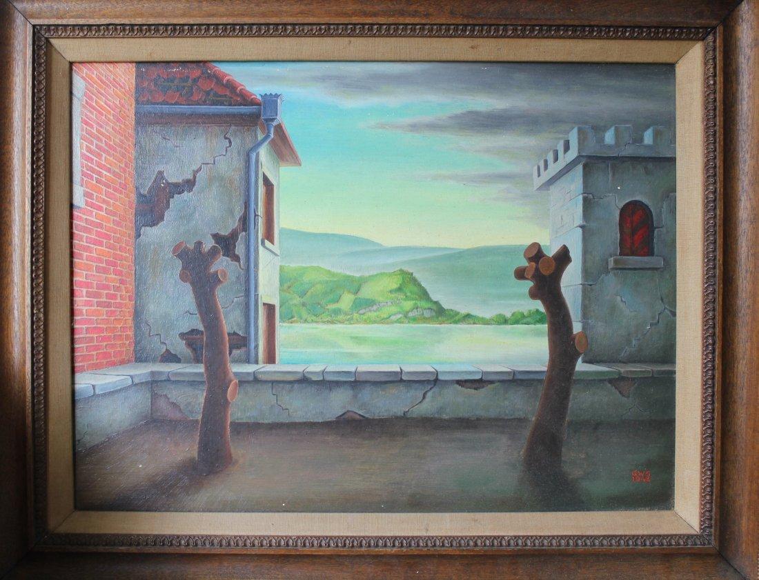 11: George W. Staempfli Surrealist painting