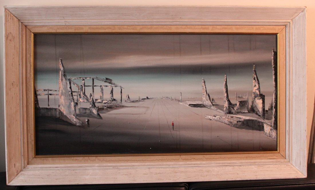 12: James Stancin surrealist painting mid-century