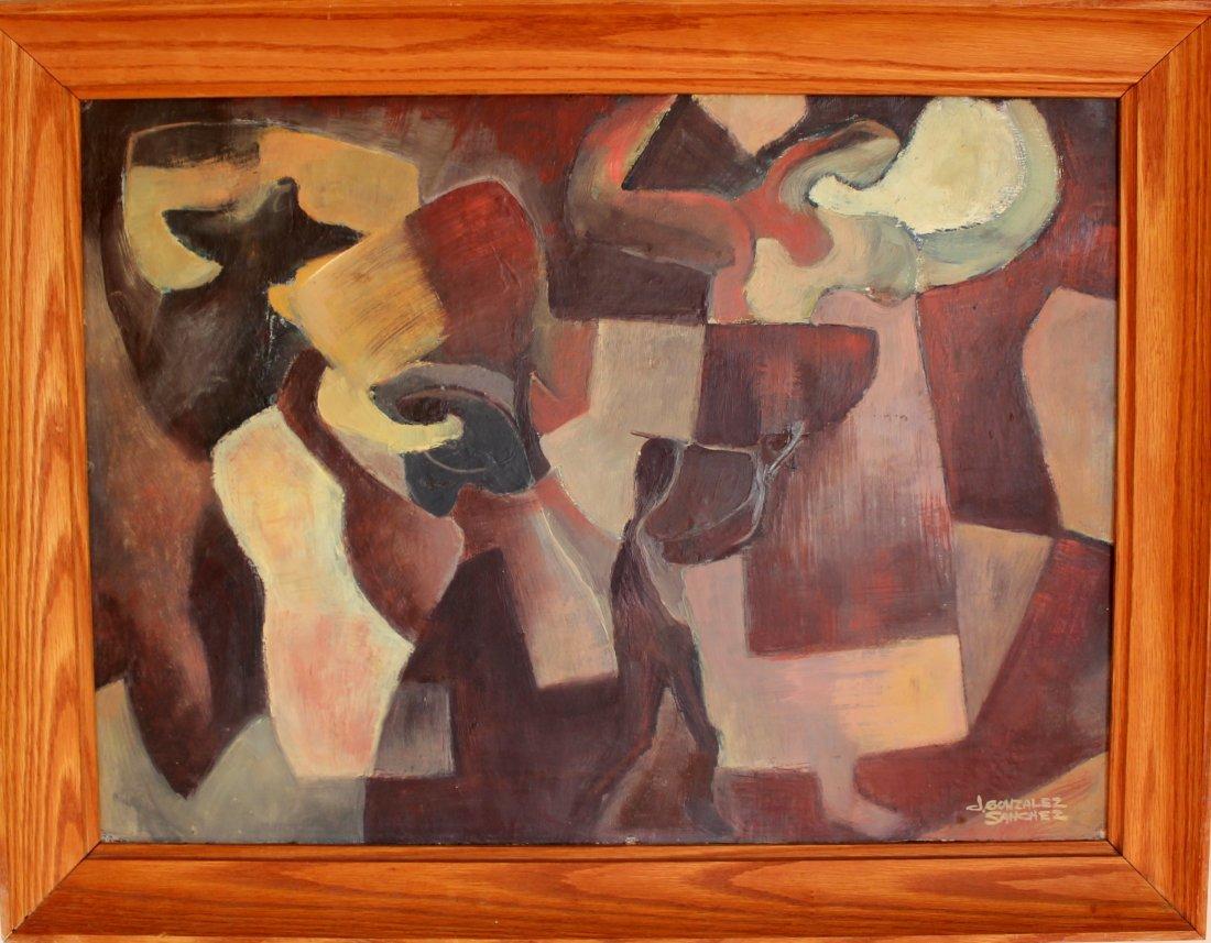14: J. Gonzalez Sanchez Latin Modernist Painting 1930's