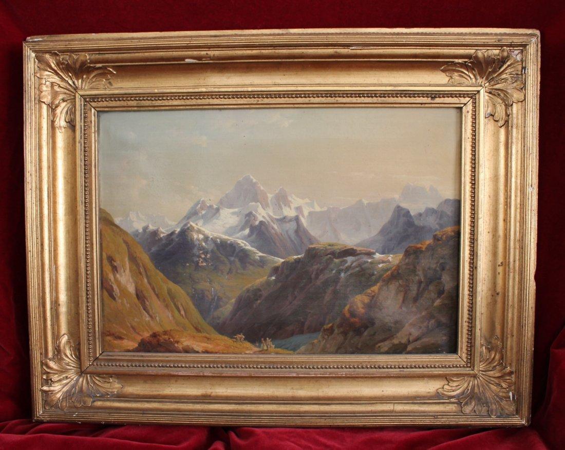 22: Edmund Worndle (Vienna 1827-1906) Alpine Landscape