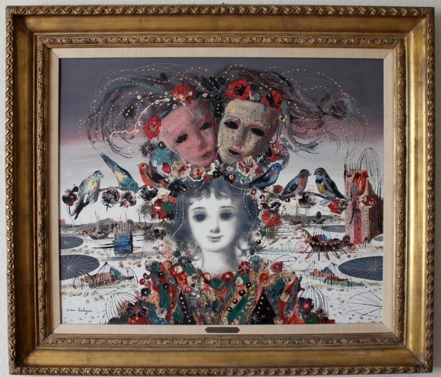 26: Jean Calogero Italian surrealist painting