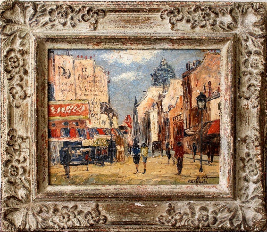 School of Paris oil painting mid century