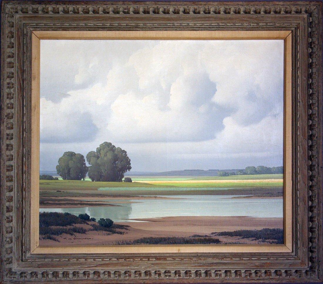 Pierre de Clausade (French 1910-1976) landscape
