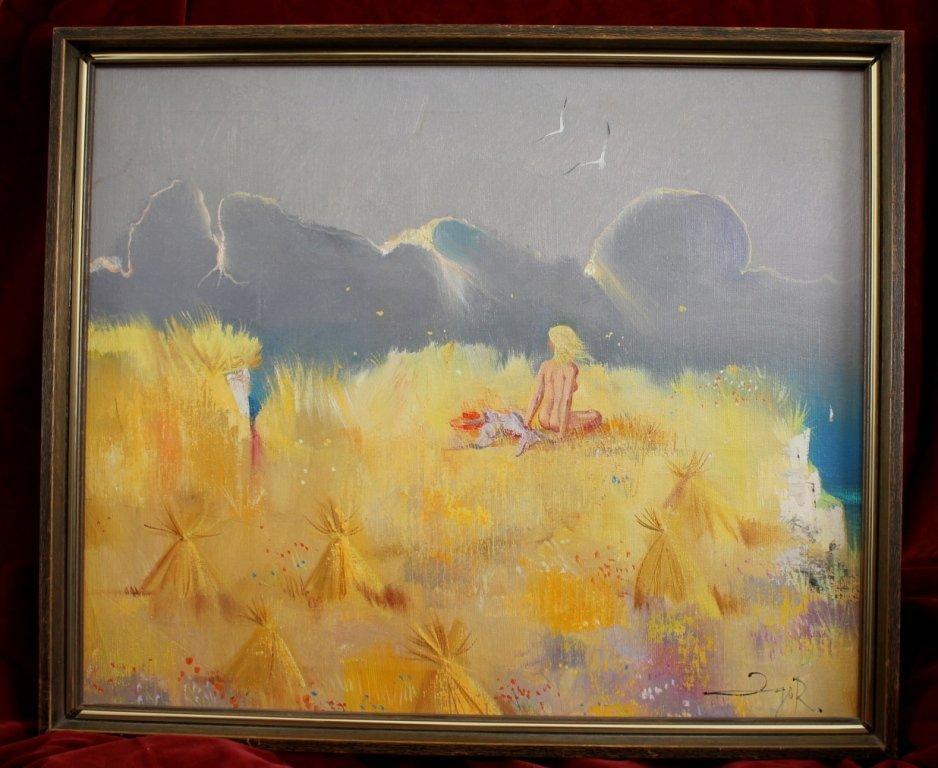 Igor Pantuhoff surrealist landscape with nude