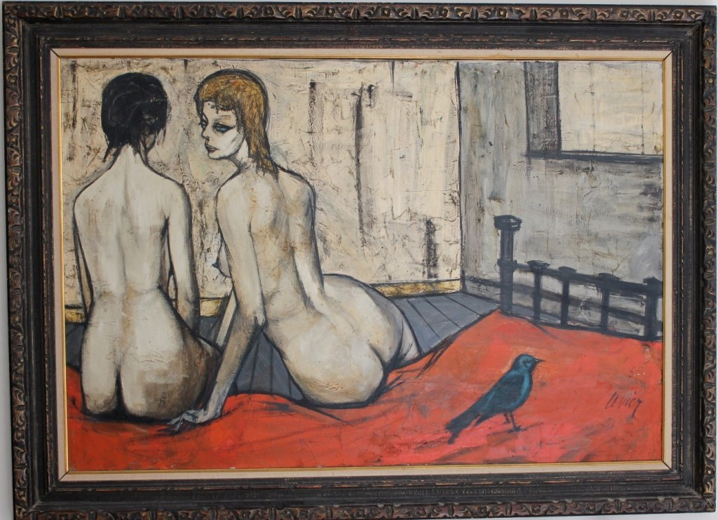Charles Levier oil on canvas Nude