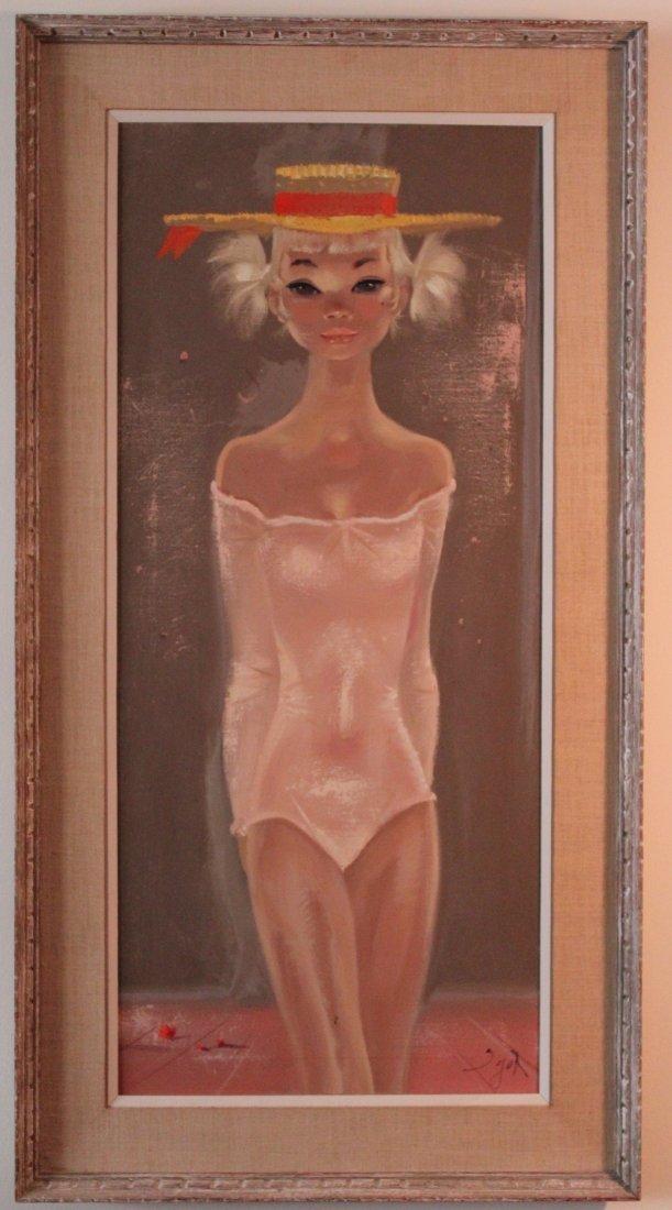 Igor Pantuhoff oil on canvas female figure standing