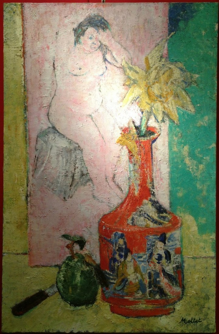 Yvonne Mottet French mid-century Modern painting