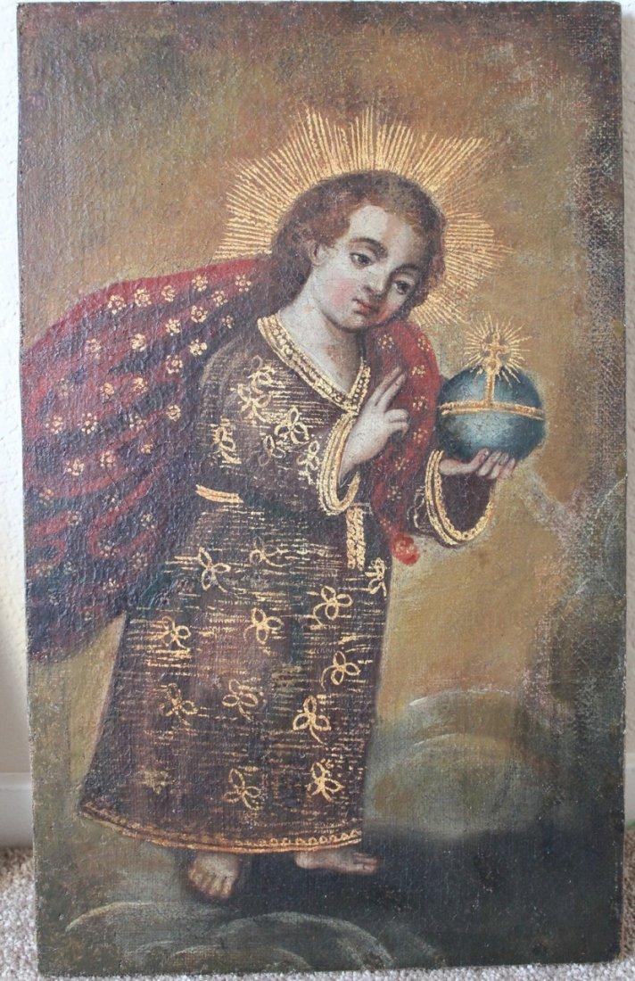 Cuzco School 18th century painting of Christ