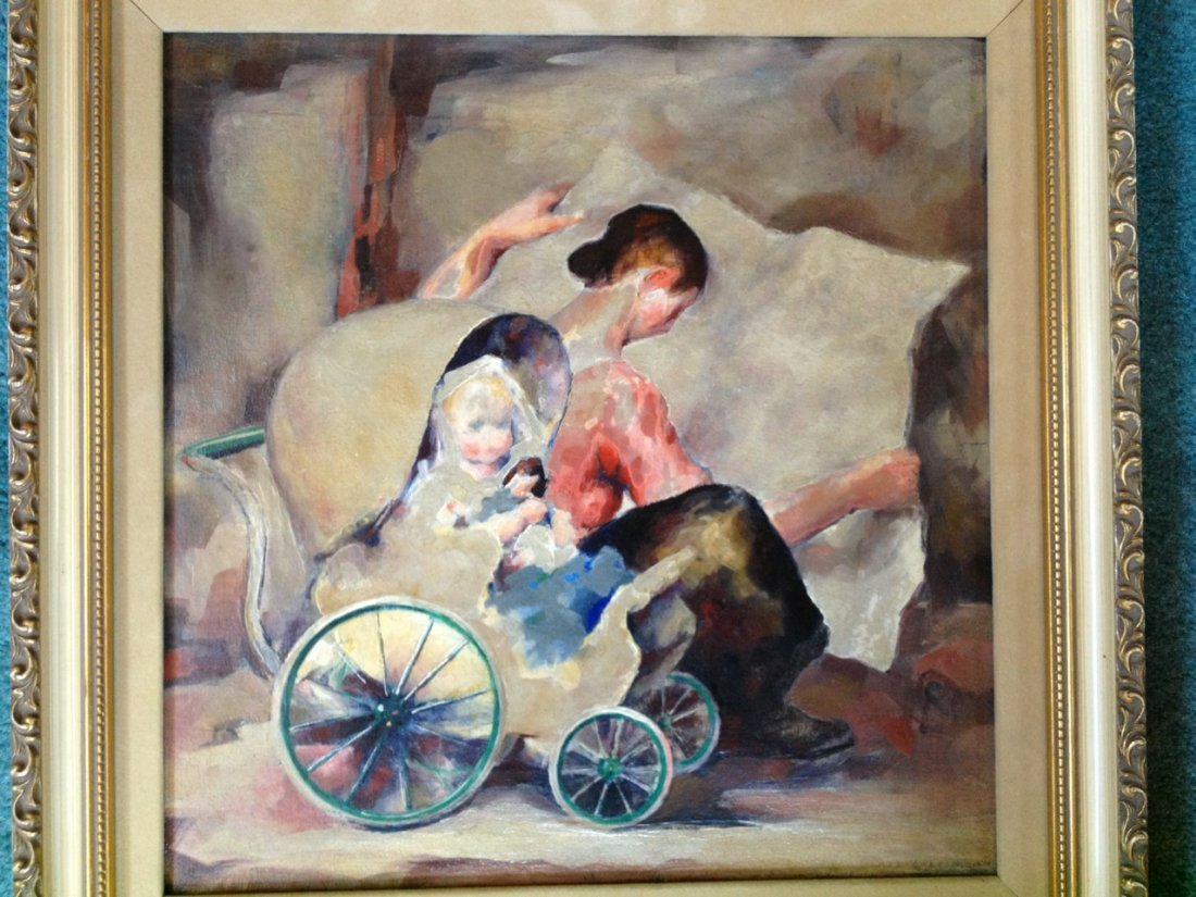 James Chapin oil on canvas painting