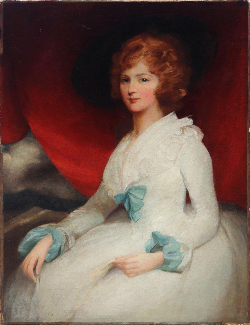 British Portrait of a Lady Sir John Hoppner (attr)