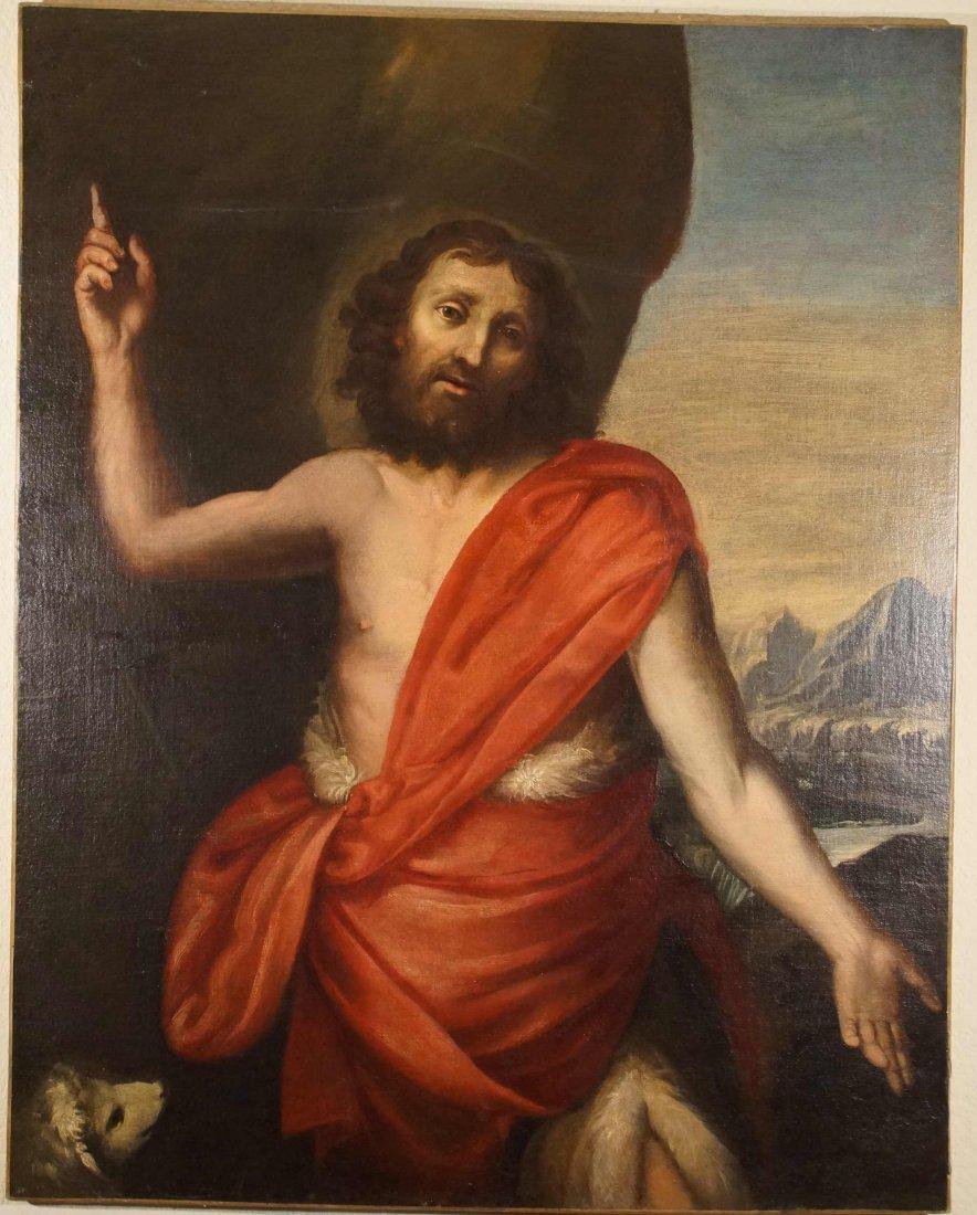 """Italian 17th Century painting """"St. John The Baptist"""""""