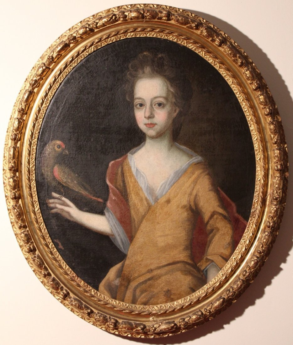 Old Master French Portrait of a Lady 18th century