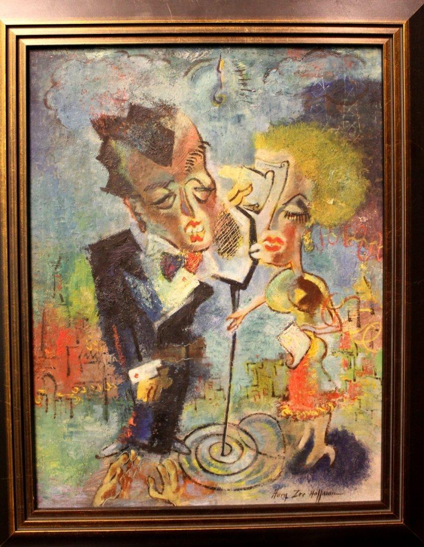 "Harry Zee Hoffman ""Jazz Age"" Oil Painting"