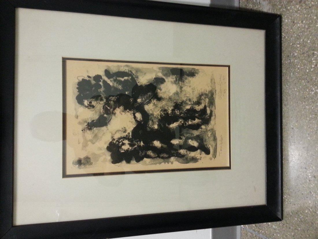 Chaim Gross framed print