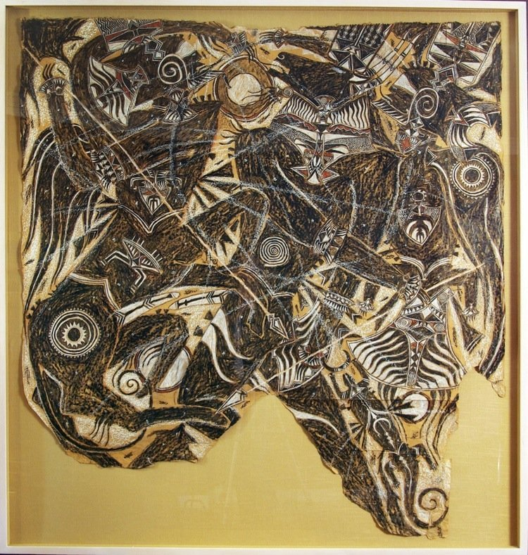 """Francois Burland large work on paper from """"monsters"""""""