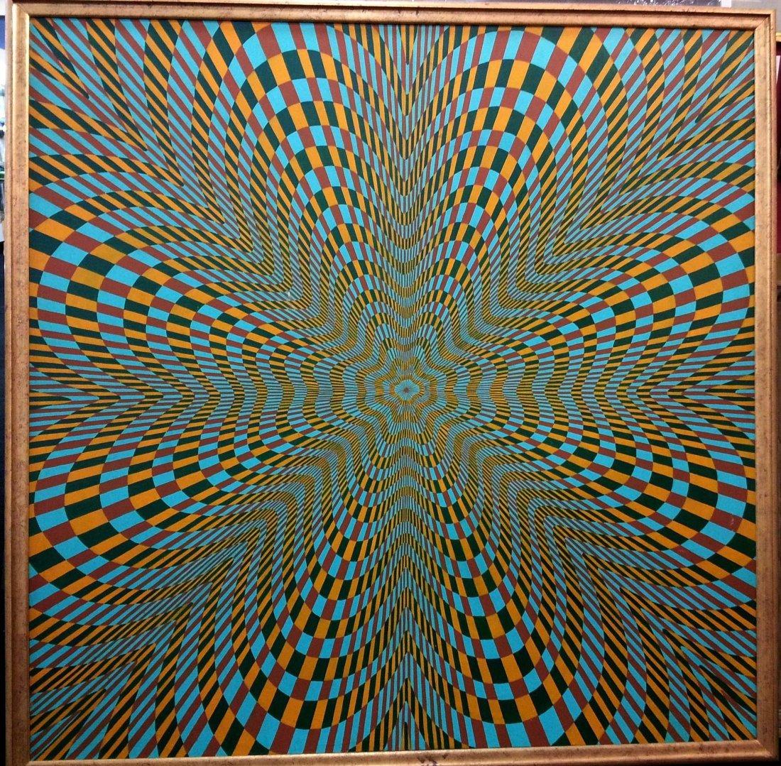 Claudia Carrel Op-Art 1960's modern painting