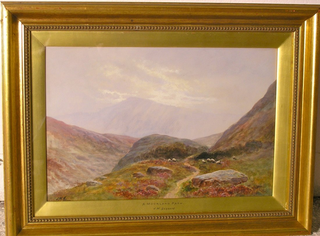J.W. Gozzard British Watercolor 19th Century Scotish