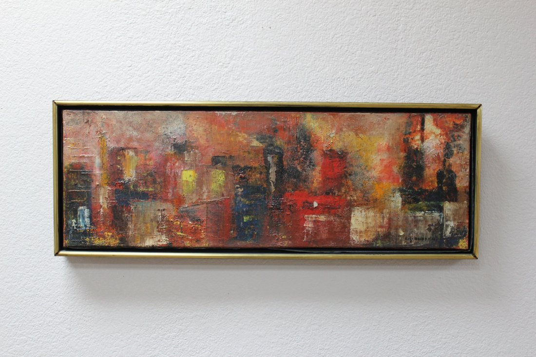 French Mid Century Modern Abstract Painting