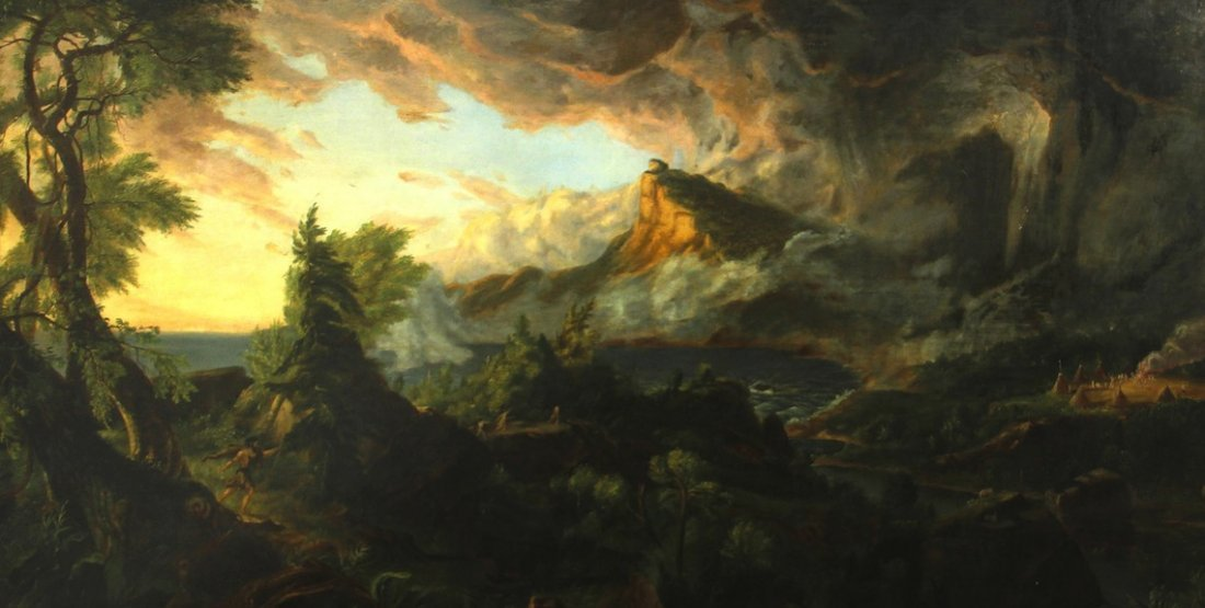 Thomas Cole (after) American 19th century oil painting