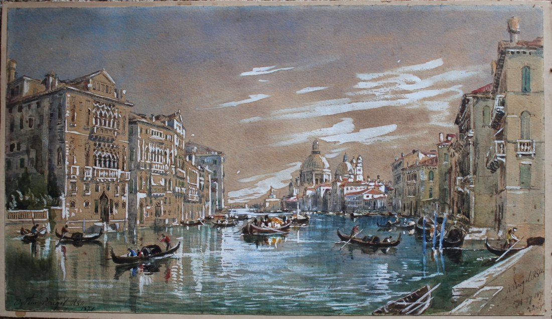 Arthur Perigal British 19th century Venice painting