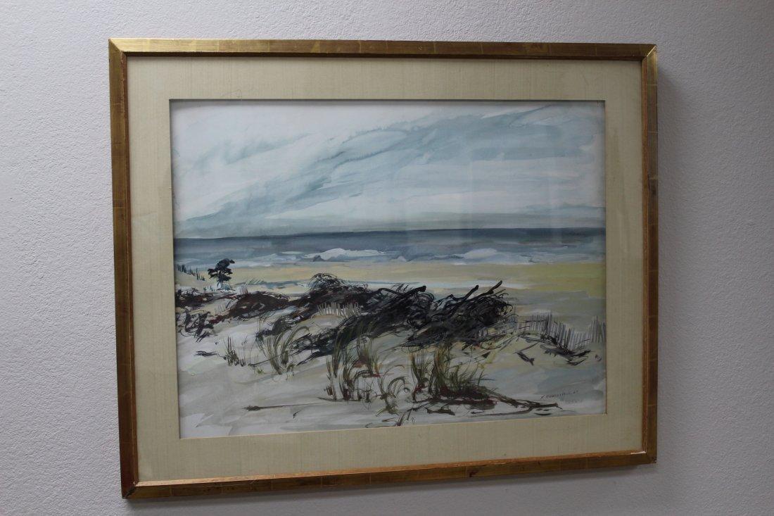 Hamptons Beach painting Kitty Brandfield