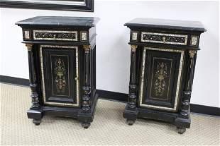 French Louis-Phillipe ebonized cabinets