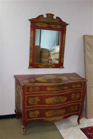 Italian Antique 19th century painted commode