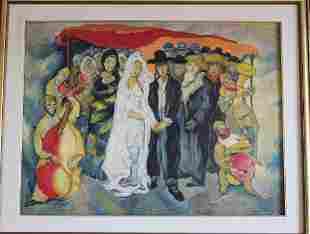 """oil painting signed """"Mane Katz"""""""