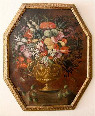 Italian Old Master painting LARGE floral
