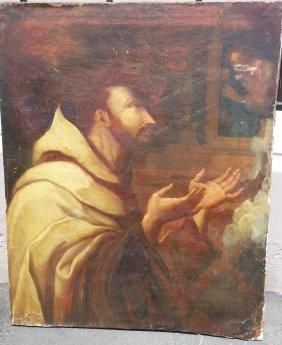 Italian School Old Master Painting Of Saint