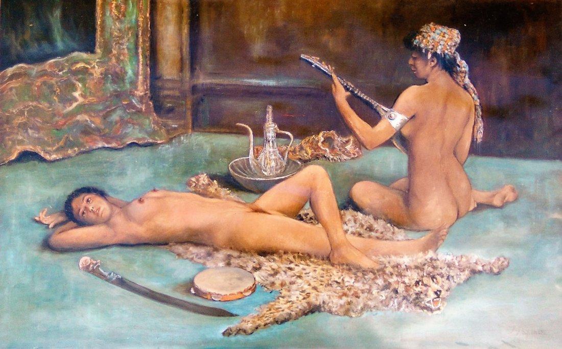 Orientalist Female Nudes painting Italian