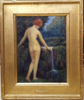 Albert E. Smith Nude Impressionist Painting