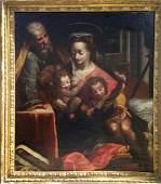 Italian School Old Master Baroque Holy Family