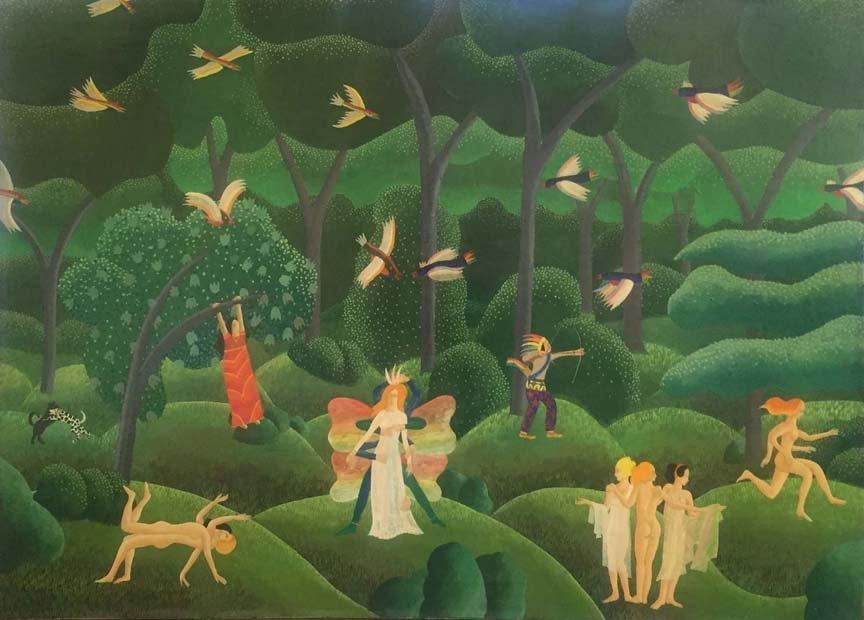 Thomas McKnight surrealist painting
