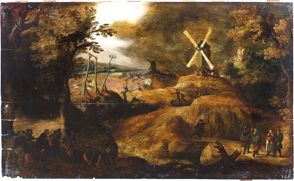 Flemish Old Master landscape painting