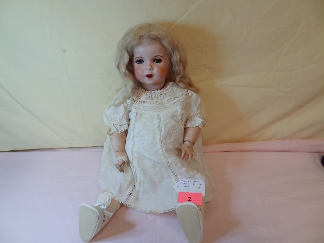 2: 22'' BISQUE HEAD DOLL MARKED UNIS, FRANCE 71 14, JOI