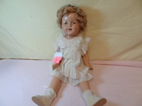 3: 23'' COMPOSITION SHIRLEY TEMPLE DOLL, JOINTED SHOULD