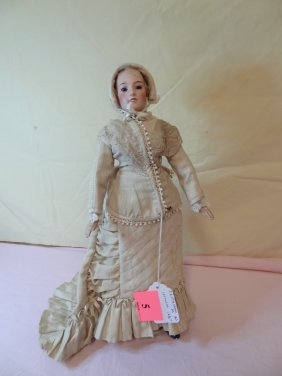 5: 16 1/2'' COMPOSITION DOLL, MARKED JE MASSON #0 ''LOR