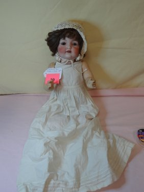 10: 18'' AMBERG DOLL BISQUE HEAD, COMPOSITION BODY, SLE