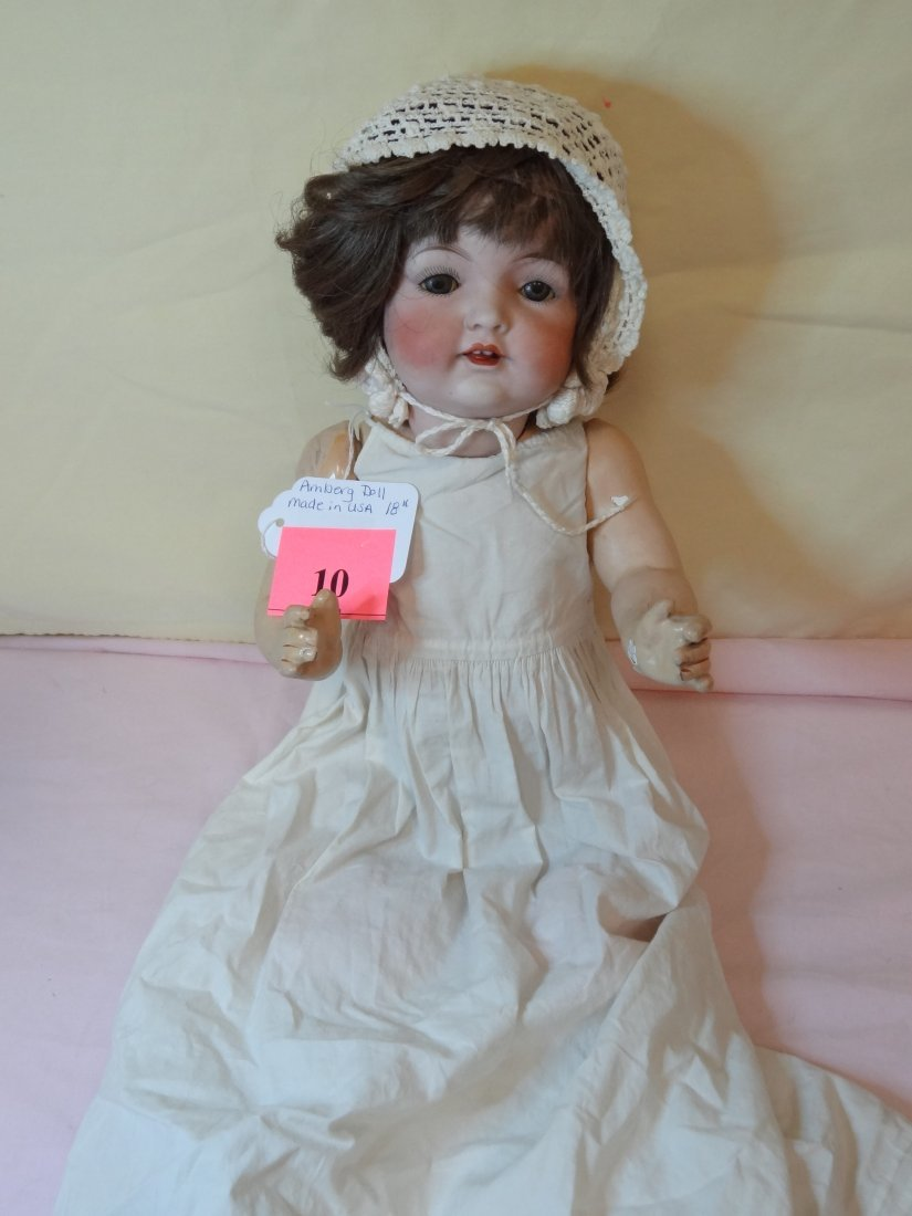 10: 18'' AMBERG DOLL BISQUE HEAD, COMPOSITION BODY, SLE - 2